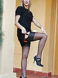 Princess looks ravishing in black lingerie