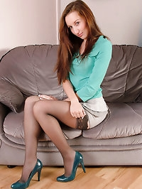 This gorgeous brunette just loves all of her high heels
