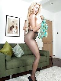 Brook Logan - Teenage pantyhose slut!