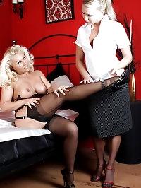 Slutty Lana gets her pussy eaten by a hot lesbian bitch