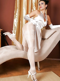 Woman in white is extravagant