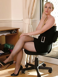 Sexy housewife Toni is in a short sexy black dress with..