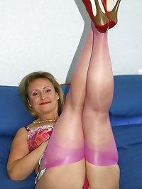 Mom looks wonderful in pink