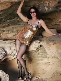 Stunning whore loves glitter
