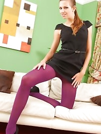 Kinky secretary strips out of her smart black dress and..