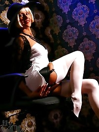Leggy Milf LilyWOW in white stockings and high heels