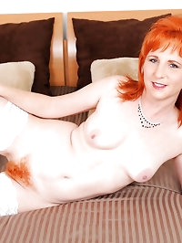 Lovely Sasha Brand takes off her sexy lingerie and..
