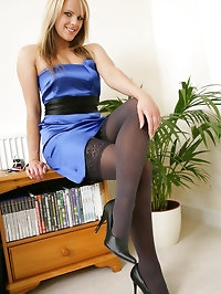 Marvellous Mackenzie looking gorgeous in a sexy blue..