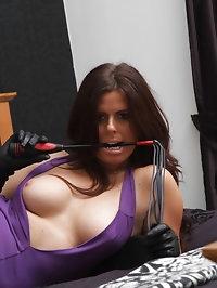 This brunette slut loves to smell her gloves before she..