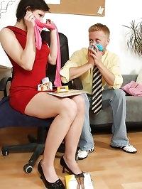 Karen loves to be humped hard through tights