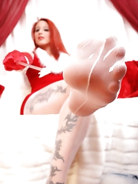 Sexy Nylon girl Nadja in white Nylons and red high heels..