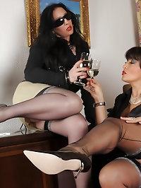 Amanda loves her partner's nylon