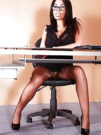 Shiny Hose (Office Setting)