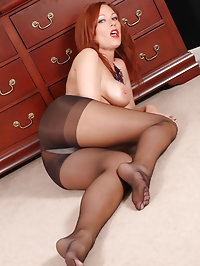 Skank in black dress with wild boots