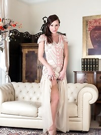 Sophia posing in fully fashioned stockings and classic..