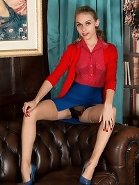 Chloe is dressed to assist you to wank, to best result, in..