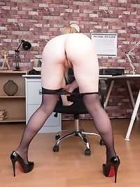Lucy is so naturally horny shes always sexed up at work!..