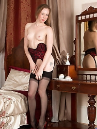 Getting dressed up in sultry lingerie really gets UK..