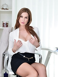 After a long day at the office, horny mom Carol Gold is..