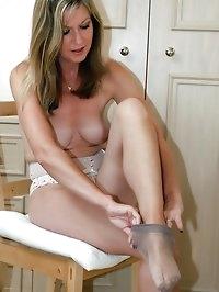sexy milf gets dressed