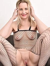 Emma Turner in her fishnet bodysuit