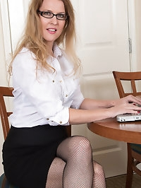 Bespectacled secretary Lacy F is angling for a raise as..