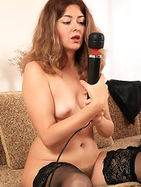 Sexy Helen Volga and her hairy pussy