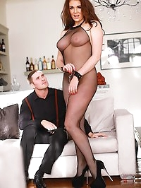 Curvy Sex Slave Brunette Emma Leigh Has the Tightest Pussy
