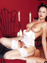 Sexy bride so horny that she wants to fuck all night long