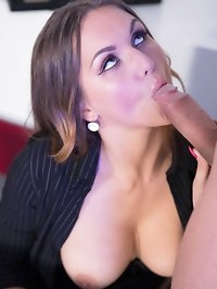 Hot Secretary Barbara Bieber Puts the Squeeze on Her Boss