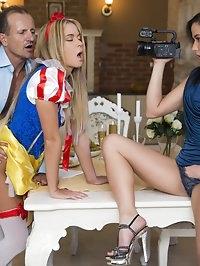 Czech Teens Angella Christin & Niki Sweet Share a Big Dick