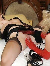 naughty nurse gives nylon medication
