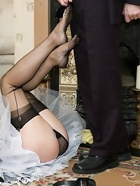 naughty maid performs on her master