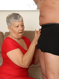 Mature British lady fucking on the couch