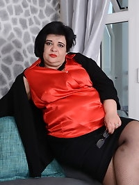 Naughty big curvy lady loves to play alone