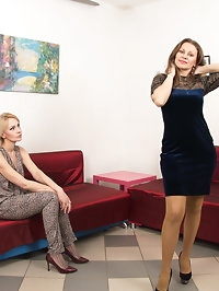 Two horny housewives love to get wet and wild