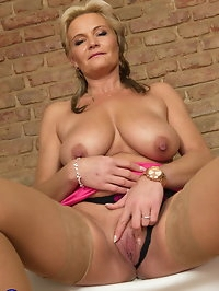 Horny housewife playing with herself when shes alone