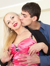 Naughty MILF playing with her lover