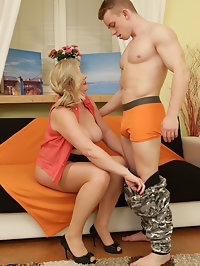 This curvy housewife loves fooling around with her toyboy