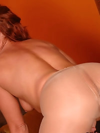 Vixen getting her ass rimmed in nylons