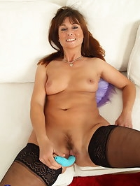 Hot British housewife getting wet