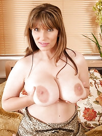 Anilos cougar pinches her huge boobs in her room and fucks..