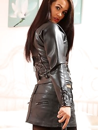 Felicity Hill Black Leather