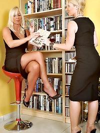Lady Astrid makes sub secretary Annabelle worship her..