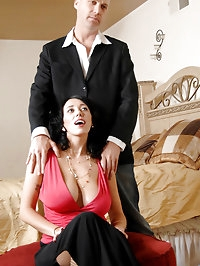 Curvy mature babe gets fucked deep from behind by a hunk..