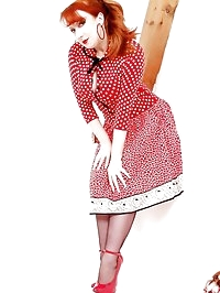 Retro polka dots - but did they have big t-handle dildos..