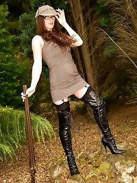 Shooting In Thighboots