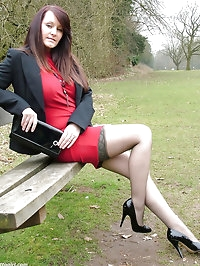 Jenna has a real fetish for shiny stilettos and silky..