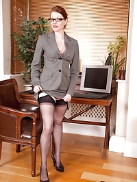 Gorgeous Anilos office temp strips down to her naughty..