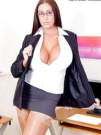 Big Tits Secretary Emma Butt Spreads her Tasty Assets in..